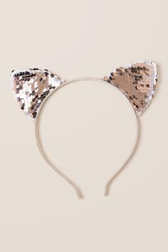 The Cornelia Sequin Cat Ear Headband features a shimmery finish on a cute cat ear design. Girls Hair Accessories, Fashion Accessories, Hair Rubber Bands, Kids Dress Wear, Cat Ears Headband, Cool Hats, Indian Jewelry, Hair Band, Hats For Women