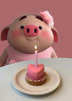 Happy Birthday Pig, Happy Birthday Greetings Friends, Happy Birthday Celebration, Happy Birthday Images, Pig Wallpaper, Cute Piglets, Pig Illustration, Pig Art, Baby Pigs
