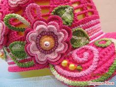 details..Küçük kızlar için  tığ işi şapkalar