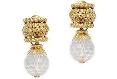 David Webb Crystal Earrings