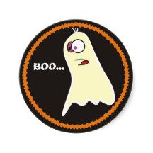 Cute Ghost Halloween Stickers,Funny Ghost
