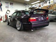 BMW E36 M3 purple wing