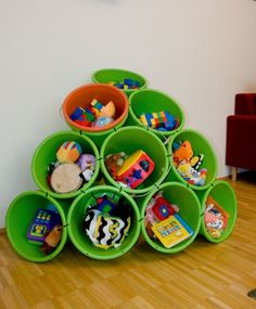 This project would be fun to replicate to store the kids toys -- you know all the little ones that end up under the couch...