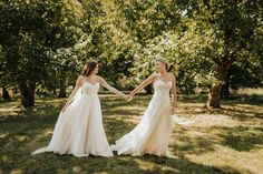 Two brides are better than one - LGBT WEDDING - LESBIAN WEDDING - BLHDN gowns pinecroft mansion Pinecroft at Crosley Estate Molly McElenney Photography
