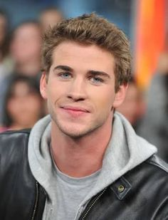 Liam Hemsworth by Chris Hemsworth, Liam Hemsworth Hunger Games, Mens Leather Shirt, Trendy Mens Hairstyles, Hemsworth Brothers, Good Looking Men, Perfect Man, To My Future Husband, Cute Guys