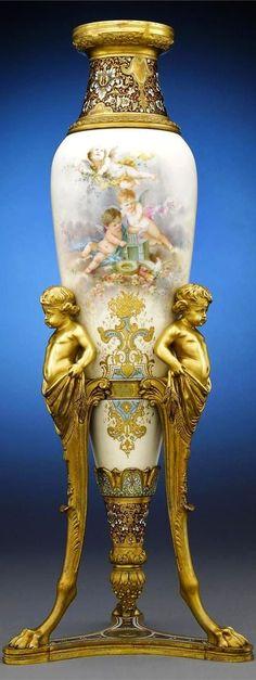 Hand painted antique vase