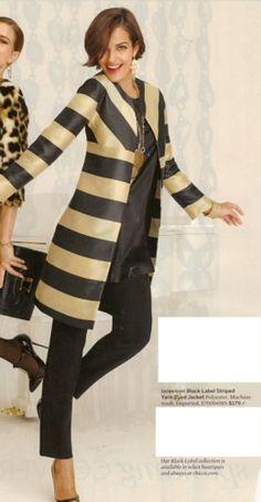 Chico's Black Label Striped jacket