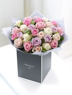 There's something wonderful about the mixture of colours in this stunning Vera Wang bouquet