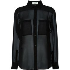 Saint Laurent sheer blouse