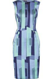 Lela RosePrinted satin-twill dress