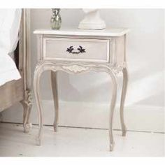 Cabinet D'Amour Bedside Table - Shabby chic white French Bedside table