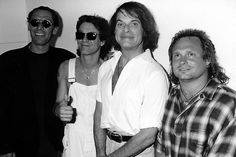 Van Halen backstage at the 1996 MTV Video Music Awards.