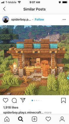 Minecraft Shops, Minecraft Cottage, Minecraft Castle, Cute Minecraft Houses, Minecraft House Designs, Amazing Minecraft, Minecraft Creations, Minecraft Crafts, Minecraft Building Blueprints