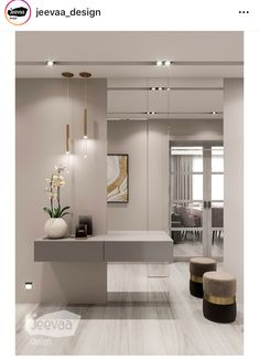 Best Indoor Garden Ideas for 2020 - Modern Home Entrance Decor, Rooms Home Decor, Home Living Room, Living Room Decor, Home Room Design, Home Interior Design, Living Room Designs, House Design, Room Interior