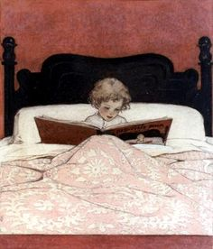 Curl up with a good book...sweet picture...