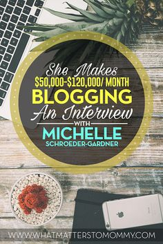 Michelle Schroeder-Gardner is a hugely successful blogger who loves helping other bloggers. She averages $50,000-$60,000/ month in online income.
