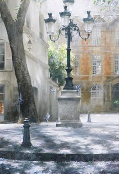 "ganymedesrocks: ""lilyadoreparis: "" Paris, by Krioutchenko Andrei. "" Andrei Krioutchenko is a 1955 Russian-born artist who, at the young age of graduated with Honours from the prestigious Academy. Art Watercolor, Watercolor Landscape, Landscape Art, Monuments, Paris Balcony, Maurice Utrillo, I Love Paris, Paris Paris, Grey Roses"