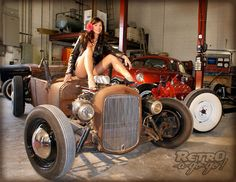 Garage Pin Up Girls | She can take us for a ride anytime...