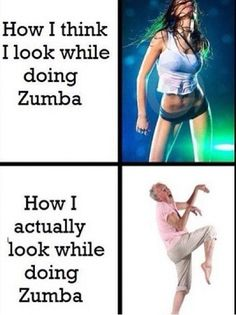 LOL!   Come join Zumba at Pilates Plus of Schaumburg! www.pilatesmindbody.com