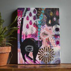 'Surprise Yourself' original painting Naive Art, Cool Artwork, Cat Art, Painting Inspiration, Art Decor, Design Art, Art Projects, Original Paintings, Illustration Art