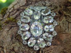 Antique Faceted Crystal Dress Clip by SoSwankVintage on Etsy, $36.99