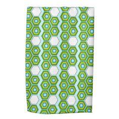 Honeycomb designer kitchen towel in Lovely Greens