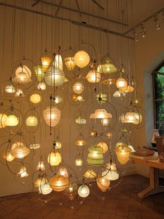 Piet Hein Eek Ball Lamp   Made Up Of Old Glass Lampshades Found In Holland.