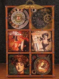Steampunk cubbies, via Flickr.