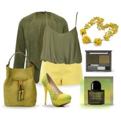 Yellow & Olive Green