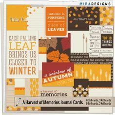 A Harvest of Memories ~ Mira Designs - Free kit