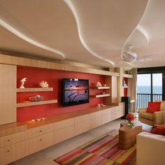 Floating Tv family room