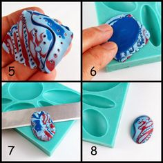picture tute - how to use a bezel mold ~ Polymer Clay Tutorials