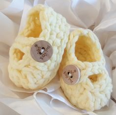 Easter Baby Booties/Adorable Baby Shower Gift ~ Bitty Baby 'Kicks' in HONEY BEE by BittyToes on Etsy