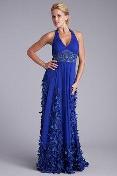 Sue Wong Ribbon Applique Silk Gown