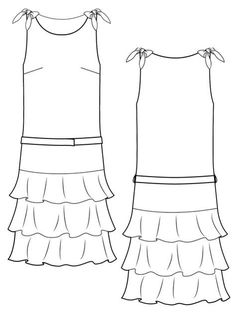 This sleek, drop-waist dress from BurdaStyle Sewing Vintage Modern evokes 1920s style.