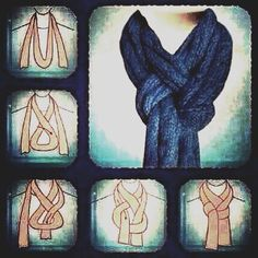 Braided Scarf - creative idea for winter