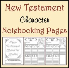 Worksheets Bible Character Study Worksheet old testament a well and wells on pinterest free new character study notebooking pages