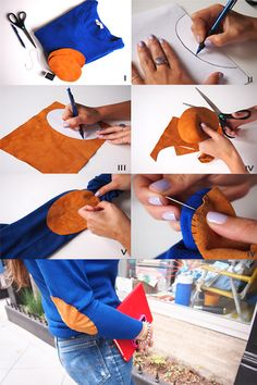 DIY Elbow Patch Sweater