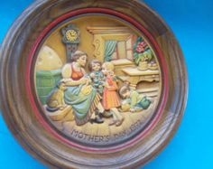 """Vintage Anri Mother's Day Wooden Wall Plaque $28.00 