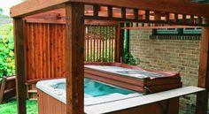 Custom pergola enclosure for hot tub  Denver Handyman - Quality home