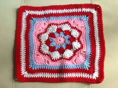 """Ravelry: Project Gallery for Harriett Square 12"""" pattern by Carolyn Christmas"""