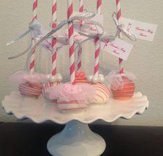 Ballerina Baby Shower Cake Pops by Pop Goes the Party LLC, Tampa, FL. Www.popgoestheparty.net