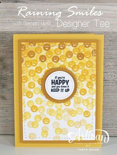 The Designer Tee stamp set from Stampin' Up! was so fun to use, I made a bunch if cards in one afternoon! Earn this set for free as part of Sale-A-Bration 2017!- Tanya Boser