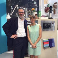 Enrico Vento e Benedetta Parodi sul set di #MoltoBene