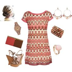 Pink and Brown, created by heather767 on Polyvore
