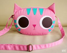 Pinky kitty mini shoulder bag by mochikaka on Etsy