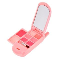Claire's Club Pink Glitter Lipgloss Flip Phone Makeup Kit For Kids, Kids Makeup, Cute Makeup, Cool Toys For Girls, Flip Phones, Girls Accessories, Pink Glitter, Best Makeup Products, Beauty Products