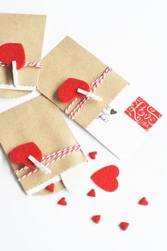 DIY mini package valentines
