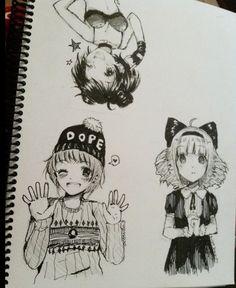 Anime drawings- tootokki ʕ •ᴥ•ʔ