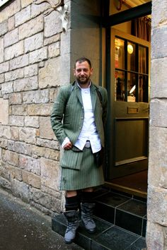 Century Kilts by Howie R Nicholsby Edinburgh Edinburgh, Glasgow Scotland, Guys In Skirts, Masculine Style, Men In Kilts, Quirky Fashion, How To Look Handsome, Dressed To The Nines, Komplette Outfits